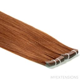 Tape baner Luksus Hair extensions Lys rødbrun nr. 7
