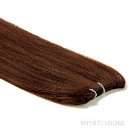 Hår Trense Luksus Hair extensions Mørk kastanjebrun nr. 4