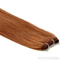 Hår Trense Luksus Hair extensions Lys rødbrun nr. 7