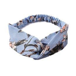 Aurora hårbånd Kurser Light Blue Floral