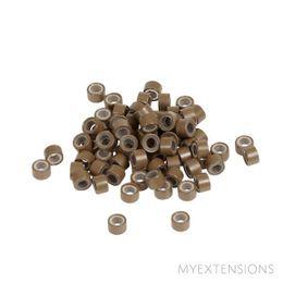 Micro ringe  Lys brun #8