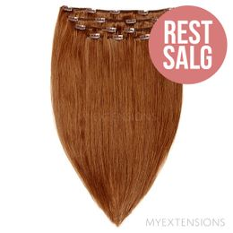 Clip on/off Original - RESTSALG Hair extensions Lys rødbrun nr. 7