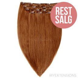 Clip on/off Original - RESTSALG Hair extensions Lys rødbrun nr. 7