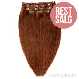 Clip on/off Original - RESTSALG Hair extensions Rødbrun nr. 6