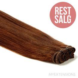Hår trense Original - RESTSALG Hair extensions Rødbrun nr. 6
