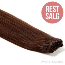 Hår trense Original - RESTSALG Hair extensions Mørk kastanjebrun nr. 4