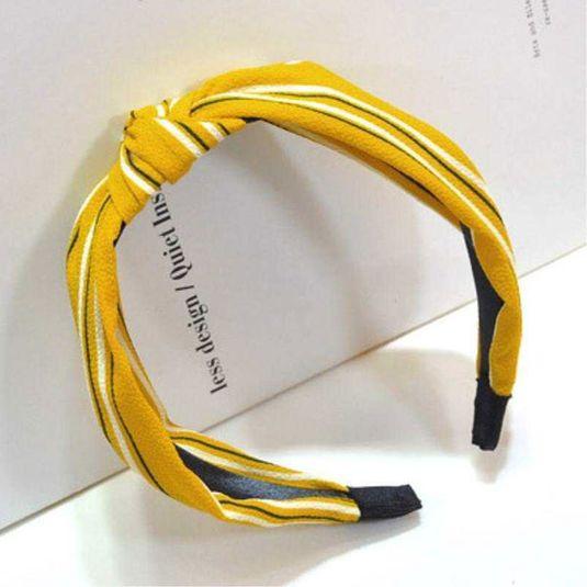 Penelope hårbøjle Accessories Yellow stripes