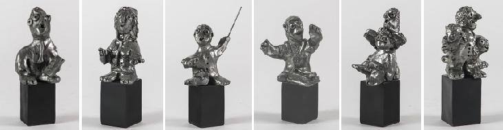de ti typer skulpturer til salg kunstner