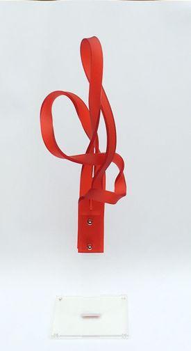 Plexiglasskulptur rød - small Bronze