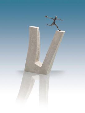Skulptur: Titel: Hvo intet vover Bronze