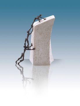 Bronzeskulptur - Sammen når vi længst - Luise Kött-Gärtner
