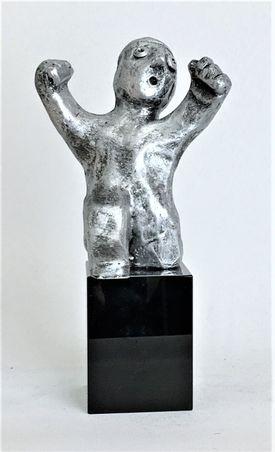 Den energiske - tin patineret Bronze