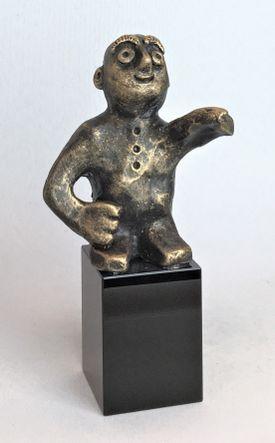Den målrettede - bronze patineret Bronze