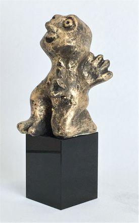 Den imødekommende - bronze patineret Bronze