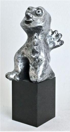 Den imødekommende - tin patineret Bronze
