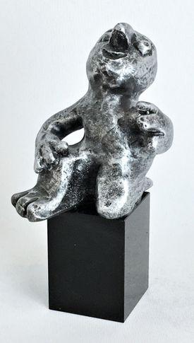 Den musikalske - tin patineret Bronze