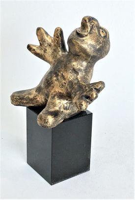Den nysgerrige - bronzepatineret Bronze