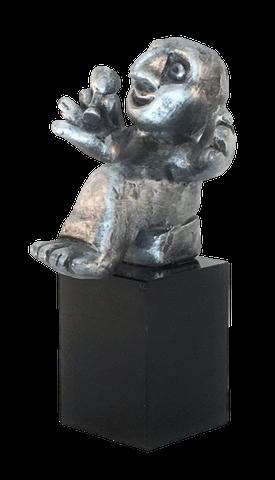 Livsnyderen - tin patineret Bronze