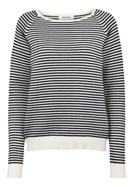 Clarice stripe o-neck -  - Modström