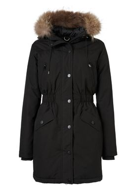 Gone Faux Fur Jakke Black