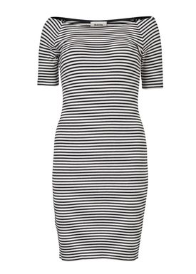 Krown stripe off shoulder dres -  - Modström