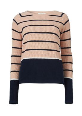 Shelby stripe o-neck - Strik - Modström
