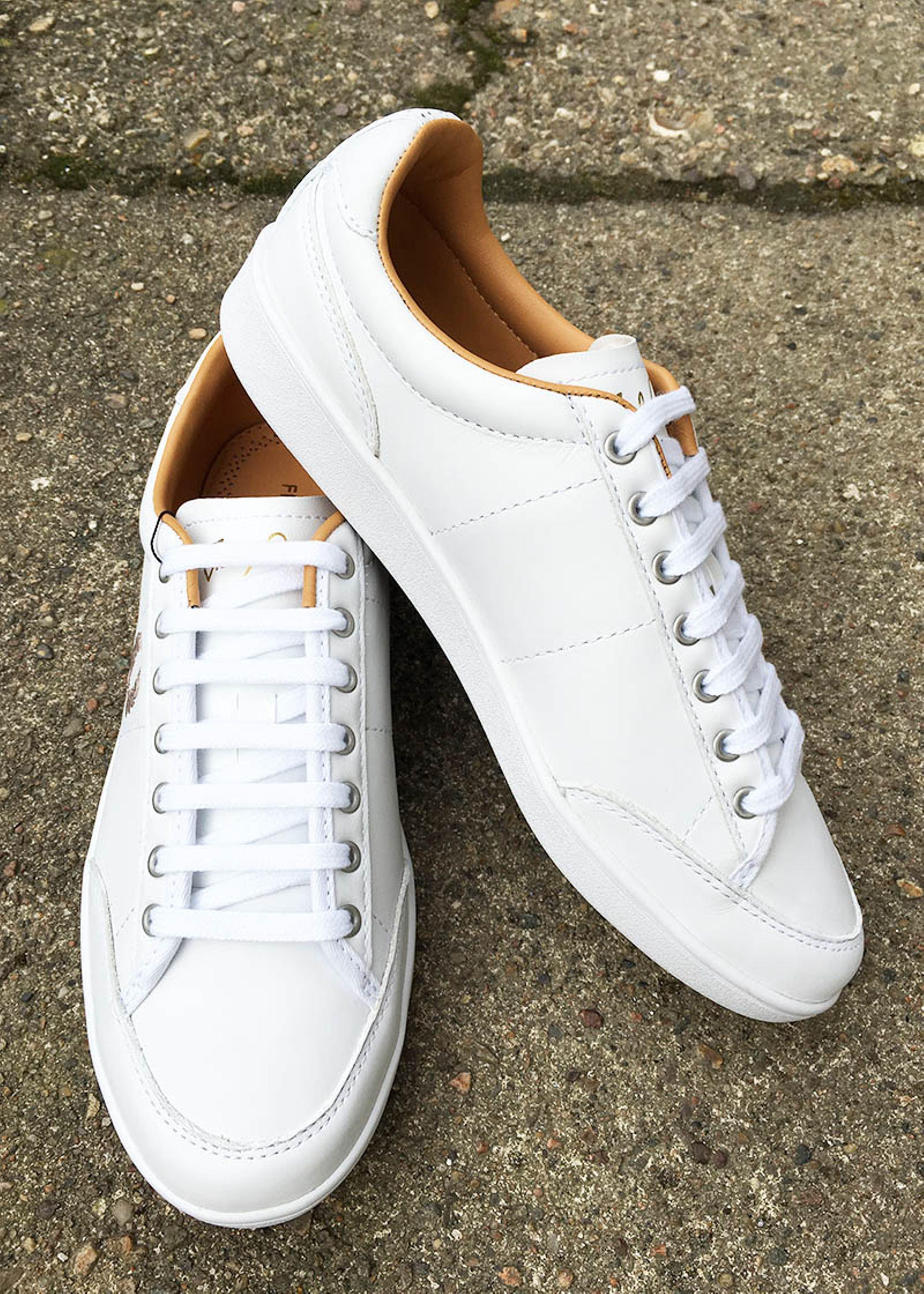 Leather Sneakers Hvide Sneakers PerryHopman Hvide Fred Leather Fred PerryHopman Fred oeCxBrd