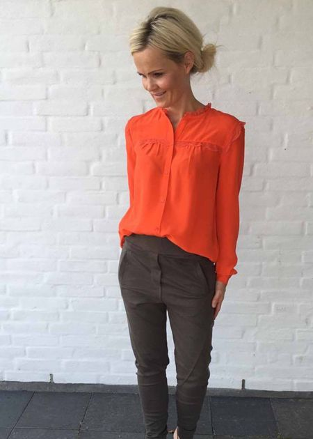 Silke skjorte fra Custommade I Petruska silkeskjorte | Silkebluse