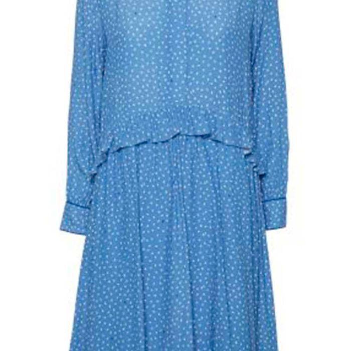 326d0ee533d0 Norr Kjole - Christie Dress - Blå Med Print. Den sødeste blå kjole fra norr  med print. kjolen har rund hals og ...