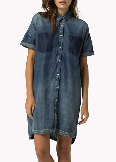 Hilfiger Denim -  - PTCWRK DNM DRESS L/S CLSBL 20