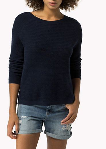 Tommy Hilfiger -  - Basic textured cn sweater l/s